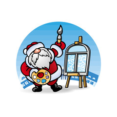 Дед Мороз Santa Claus художник