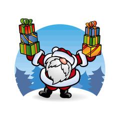 Дед Мороз Santa Claus с подарками