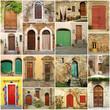italian doorways collage