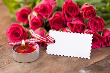 Rosen mit Blankolabel 10