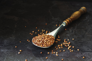 buckwheat in an old spoon