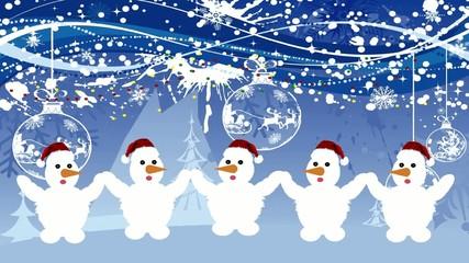 Снеговики поют частушки