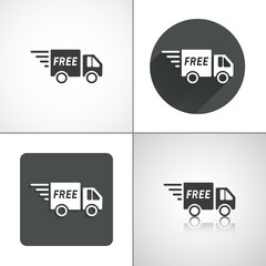 Delivery free icons. Set elements for design.