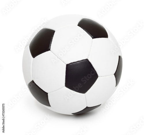 canvas print picture soccer ball object on white