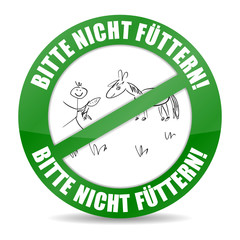 """button """"bitte nicht füttern"""" grün"""