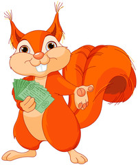 Squirrel with tickets