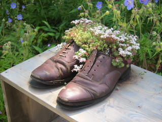 Chaussures fleuries