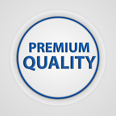 Premium quality circular icon on white background