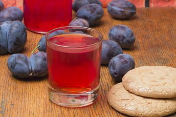 plum fruit compote cookie juice