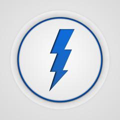 Bolt circular icon on white background