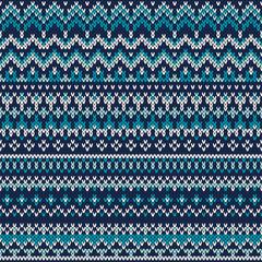 Seamless Fair Isle Knitted Pattern. Sweater Design