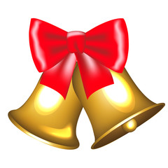golden bells with bow