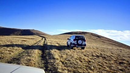 Off road driving through a Macedonian mountain