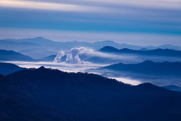 Sunrise in the Valley of the Blue Ridge Mountains 3