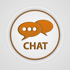 Chat circular icon on white background
