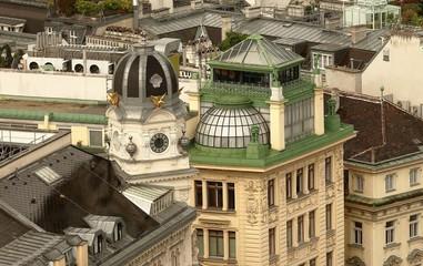 Dächer von Wien: Am Graben das Braun Haus und Helvetia Haus