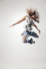 dancer posing on a studio background