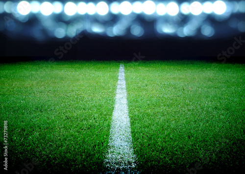 soccer field and the bright lights - 73270898