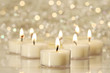 canvas print picture - Group of tea lights for holiday celebrations