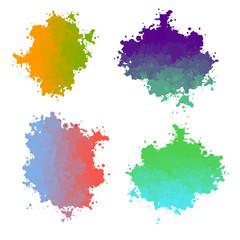 Vector paint drops