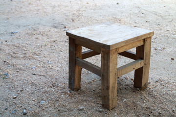small wooden seat