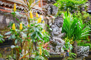 Traditional Balinese sculpture in Ubud, Bali