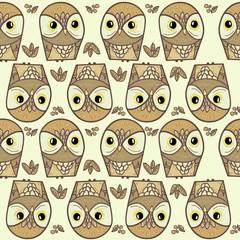 trendy owl pattern print