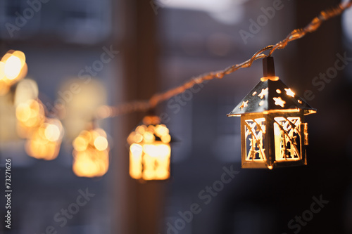 Leinwanddruck Bild Christmas Lights