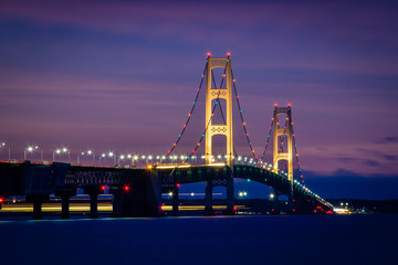 Mackinac Bridge Night