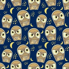 owl pattern fashionable textiles