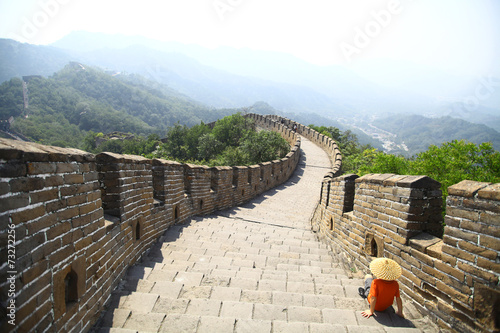 Foto op Aluminium Chinese Muur Great Wall of China at Mutianyu