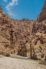 canyon wadi mujib Jordan