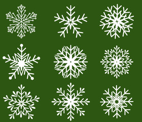 Snowflakes icon collection. Vector shape