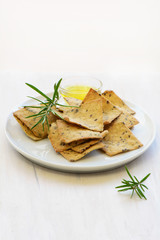 Gluten free rosemary olive oil crackers