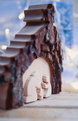 christmas crib, nursery crib wood