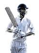Cricket player  portrait silhouette - 73275250