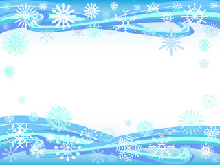 snowflakes curve background