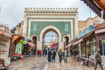 Gate to the medina in Fez, Morocco, Africa