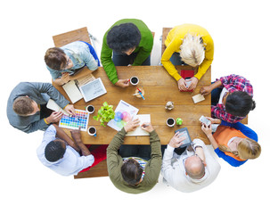 Diverse People Discussing Business Plan