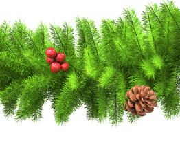Christmas Tree Branch - closeup