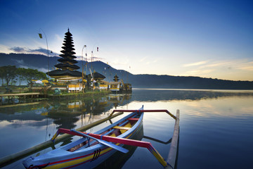 Morning at Ulun Danu Temple, Lake Beratan, Bali