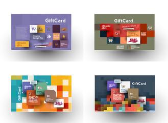 Set Of Beautiful gift card Design.