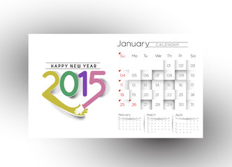 New Year Calendar 2015 Background.