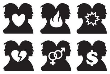 Human Relationship Icon Set