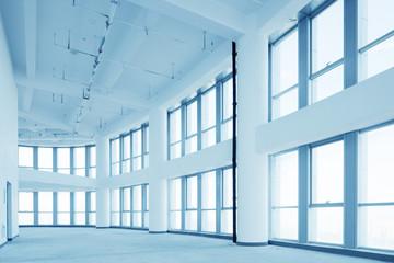 empty modern office corridor interior