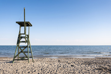 Lifeguard tower in the beach