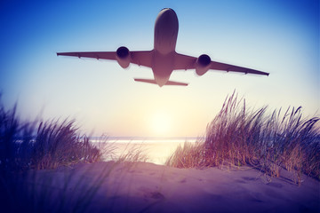 Airplane Travel Destination Outdoors Concepts