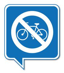 Logo vélo interdit.