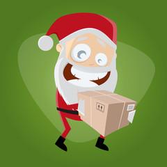 weihnachtsmann nikolaus paket geschenk liefern