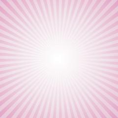 Sunburst Pattern. Radial background. Pink Color.